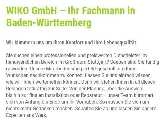 Handwerksprofi für  Weinsberg, Untergruppenbach, Neckarsulm, Flein, Eberstadt, Heilbronn, Obersulm und Ellhofen, Erlenbach, Lehrensteinsfeld