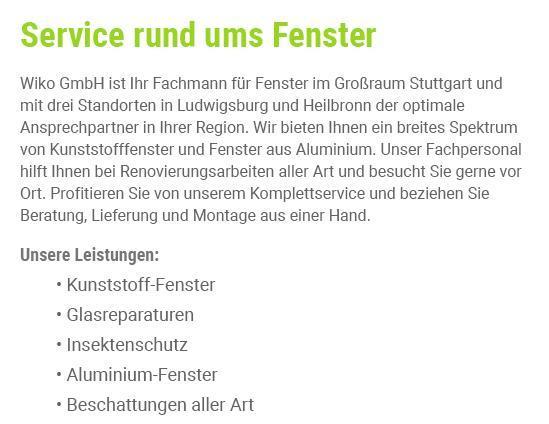 Kunststofffenster für  Weinsberg