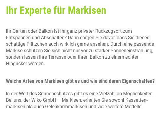 Markise aus  Weinsberg